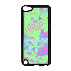Tropical Neon Green Purple Blue Apple Ipod Touch 5 Case (black) by CrypticFragmentsColors