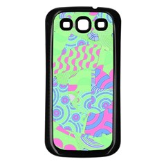 Tropical Neon Green Purple Blue Samsung Galaxy S3 Back Case (black) by CrypticFragmentsColors