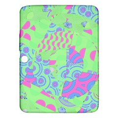 Tropical Neon Green Purple Blue Samsung Galaxy Tab 3 (10 1 ) P5200 Hardshell Case  by CrypticFragmentsColors