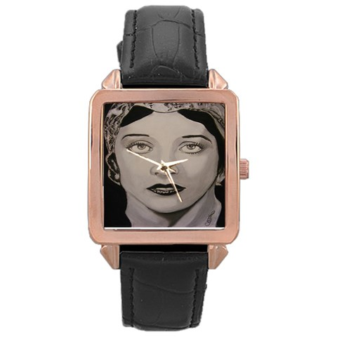 Adorned Grace Watch By Cindy Williams   Rose Gold Leather Watch    K5pgk80ycc1f   Www Artscow Com Front