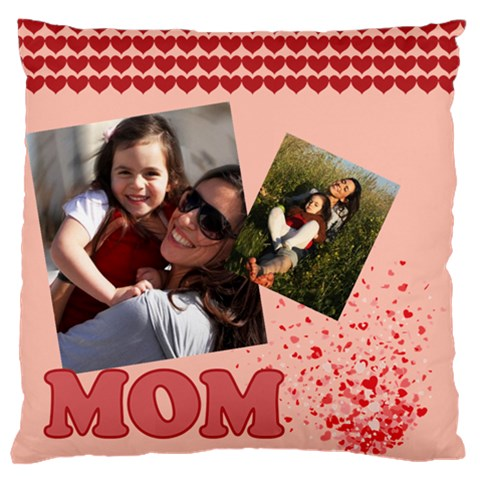 Mothers Day By Mom   Large Flano Cushion Case (one Side)   Vy19xourbqqs   Www Artscow Com Front