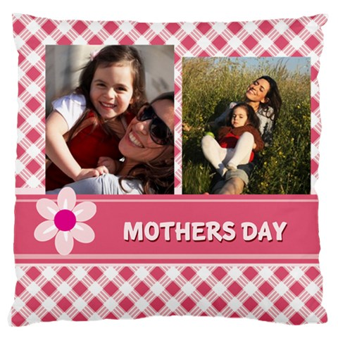 Mothers Day By Mom   Large Flano Cushion Case (one Side)   Fmjz0k0v5pvl   Www Artscow Com Front