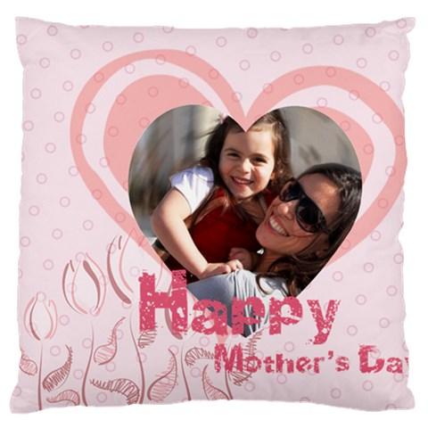 Mothers Day By Mom   Large Flano Cushion Case (one Side)   7ddy27t5ypd9   Www Artscow Com Front