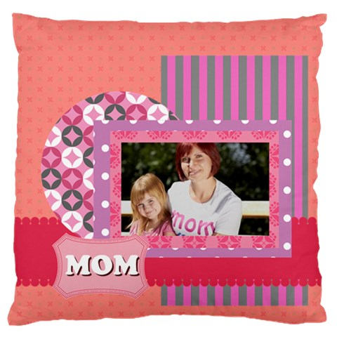 Mothers Day By Mom   Large Flano Cushion Case (one Side)   Asawzz0l8d6u   Www Artscow Com Front