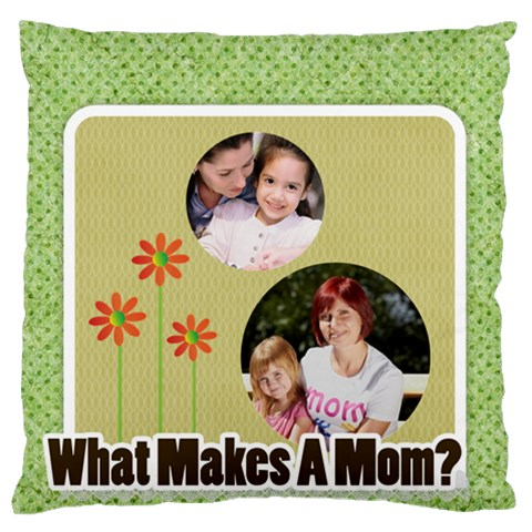 Mothers Day By Mom   Large Flano Cushion Case (one Side)   Jqs7wn0hm80q   Www Artscow Com Front