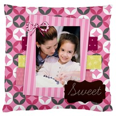 Mothers Day By Mom   Large Flano Cushion Case (two Sides)   4ttno1qnack4   Www Artscow Com Front