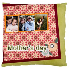 Mothers Day By Mom   Large Flano Cushion Case (two Sides)   L0qj6h48572u   Www Artscow Com Front