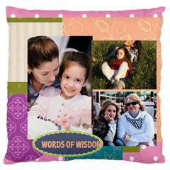 Mothers Day By Mom   Large Flano Cushion Case (two Sides)   Uren5hvnlgtk   Www Artscow Com Front