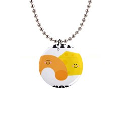 Mac & Cheese Bffs Button Necklace by codepinkink