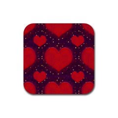 Galaxy Hearts Grunge Style Pattern Drink Coasters 4 Pack (square) by dflcprints