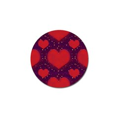 Galaxy Hearts Grunge Style Pattern Golf Ball Marker 10 Pack by dflcprints