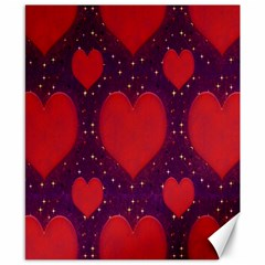 Galaxy Hearts Grunge Style Pattern Canvas 8  X 10  (unframed) by dflcprints