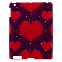 Galaxy Hearts Grunge Style Pattern Apple Ipad 3/4 Hardshell Case by dflcprints