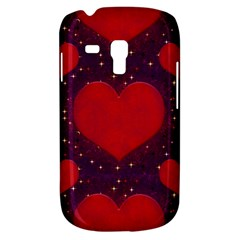 Galaxy Hearts Grunge Style Pattern Samsung Galaxy S3 Mini I8190 Hardshell Case by dflcprints