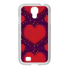 Galaxy Hearts Grunge Style Pattern Samsung Galaxy S4 I9500/ I9505 Case (white) by dflcprints