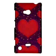 Galaxy Hearts Grunge Style Pattern Nokia Lumia 720 Hardshell Case by dflcprints