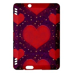 Galaxy Hearts Grunge Style Pattern Kindle Fire Hdx Hardshell Case by dflcprints