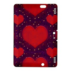 Galaxy Hearts Grunge Style Pattern Kindle Fire Hdx 8 9  Hardshell Case by dflcprints