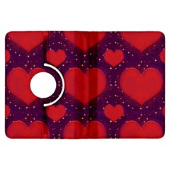 Galaxy Hearts Grunge Style Pattern Kindle Fire Hdx Flip 360 Case by dflcprints