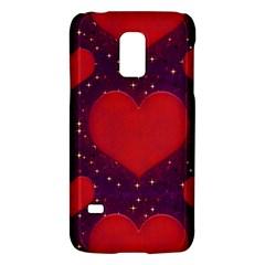 Galaxy Hearts Grunge Style Pattern Samsung Galaxy S5 Mini Hardshell Case  by dflcprints