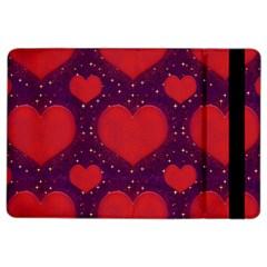 Galaxy Hearts Grunge Style Pattern Apple Ipad Air 2 Flip Case by dflcprints