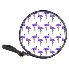 Flamingo Neon Purple Tropical Birds CD Wallet by CrypticFragmentsColors