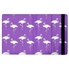 Flamingo White On Lavender Pattern Apple Ipad 3/4 Flip Case by CrypticFragmentsColors