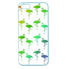 Flamingo Pattern Rainbow  Apple Seamless Iphone 5 Case (color) by CrypticFragmentsColors
