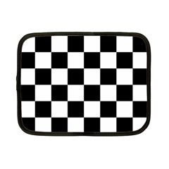 Checkered Flag Race Winner Mosaic Tile Pattern Netbook Sleeve (small) by CrypticFragmentsColors