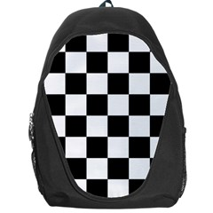 Checkered Flag Race Winner Mosaic Tile Pattern Backpack Bag by CrypticFragmentsColors