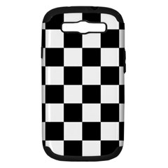 Checkered Flag Race Winner Mosaic Tile Pattern Samsung Galaxy S Iii Hardshell Case (pc+silicone) by CrypticFragmentsColors