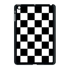 Checkered Flag Race Winner Mosaic Tile Pattern Apple Ipad Mini Case (black) by CrypticFragmentsColors