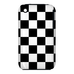 Checkered Flag Race Winner Mosaic Tile Pattern Apple Iphone 3g/3gs Hardshell Case (pc+silicone) by CrypticFragmentsColors