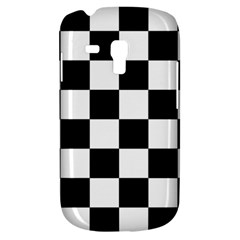 Checkered Flag Race Winner Mosaic Tile Pattern Samsung Galaxy S3 Mini I8190 Hardshell Case by CrypticFragmentsColors