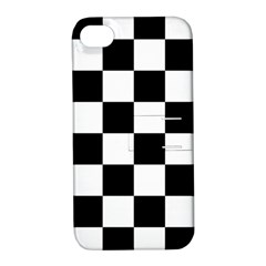 Checkered Flag Race Winner Mosaic Tile Pattern Apple Iphone 4/4s Hardshell Case With Stand by CrypticFragmentsColors