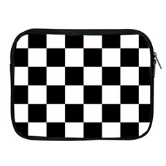 Checkered Flag Race Winner Mosaic Tile Pattern Apple Ipad Zippered Sleeve by CrypticFragmentsColors