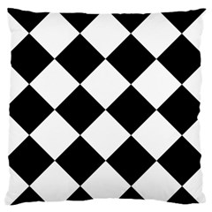 Harlequin Diamond Mosaic Tile Pattern Black White Standard Flano Cushion Case (one Side) by CrypticFragmentsColors