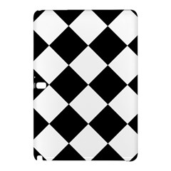 Harlequin Diamond Mosaic Tile Pattern Black White Samsung Galaxy Tab Pro 12 2 Hardshell Case by CrypticFragmentsColors