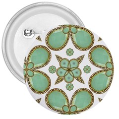 Luxury Decorative Pattern Collage 3  Button by dflcprints