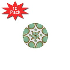 Luxury Decorative Pattern Collage 1  Mini Button (10 Pack) by dflcprints