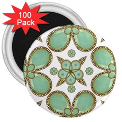 Luxury Decorative Pattern Collage 3  Button Magnet (100 Pack) by dflcprints