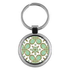 Luxury Decorative Pattern Collage Key Chain (Round) by dflcprints