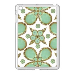 Luxury Decorative Pattern Collage Apple Ipad Mini Case (white) by dflcprints