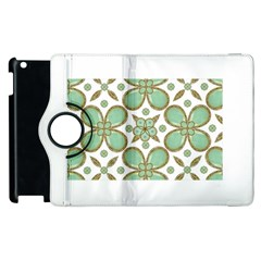 Luxury Decorative Pattern Collage Apple Ipad 2 Flip 360 Case by dflcprints