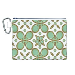 Luxury Decorative Pattern Collage Canvas Cosmetic Bag (Large) by dflcprints