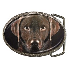 Chocolate Lab Belt Buckle (oval) by LabsandRetrievers