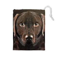 Chocolate Lab Drawstring Pouch (large) by LabsandRetrievers