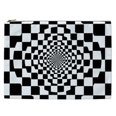 Checkered Flag Race Winner Mosaic Tile Pattern Repeat Cosmetic Bag (xxl) by CrypticFragmentsColors