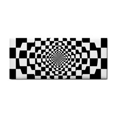 Checkered Flag Race Winner Mosaic Tile Pattern Repeat Hand Towel by CrypticFragmentsColors