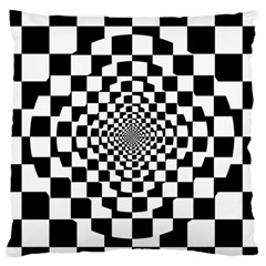 Checkered Flag Race Winner Mosaic Tile Pattern Repeat Standard Flano Cushion Case (Two Sides) by CrypticFragmentsColors